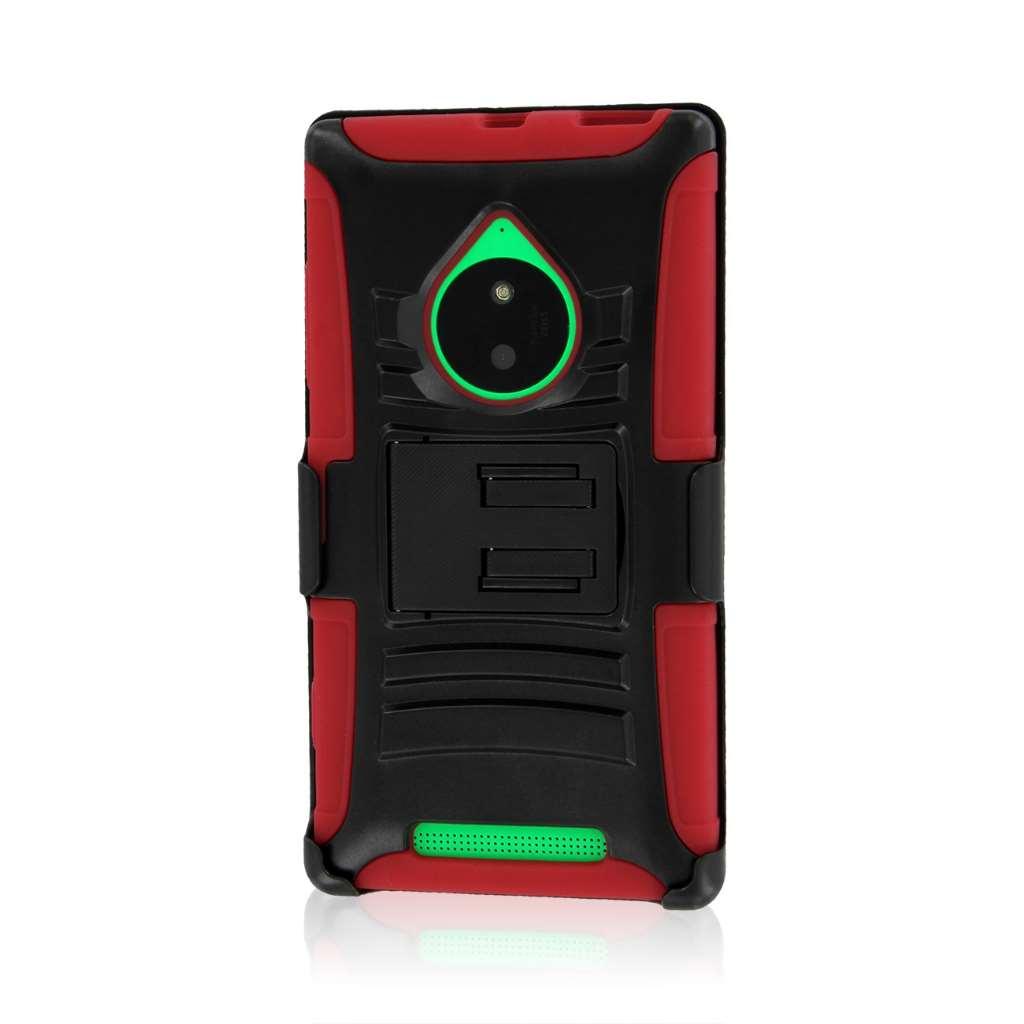 Nokia Lumia 830 - Red MPERO IMPACT XT - Kickstand Case Cover