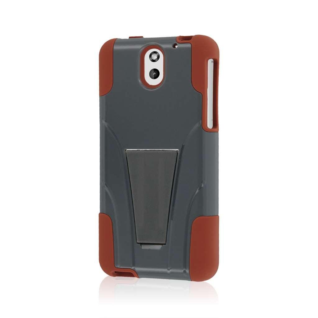 HTC Desire 610 - Sandstone / Gray MPERO IMPACT X - Kickstand Case Cover