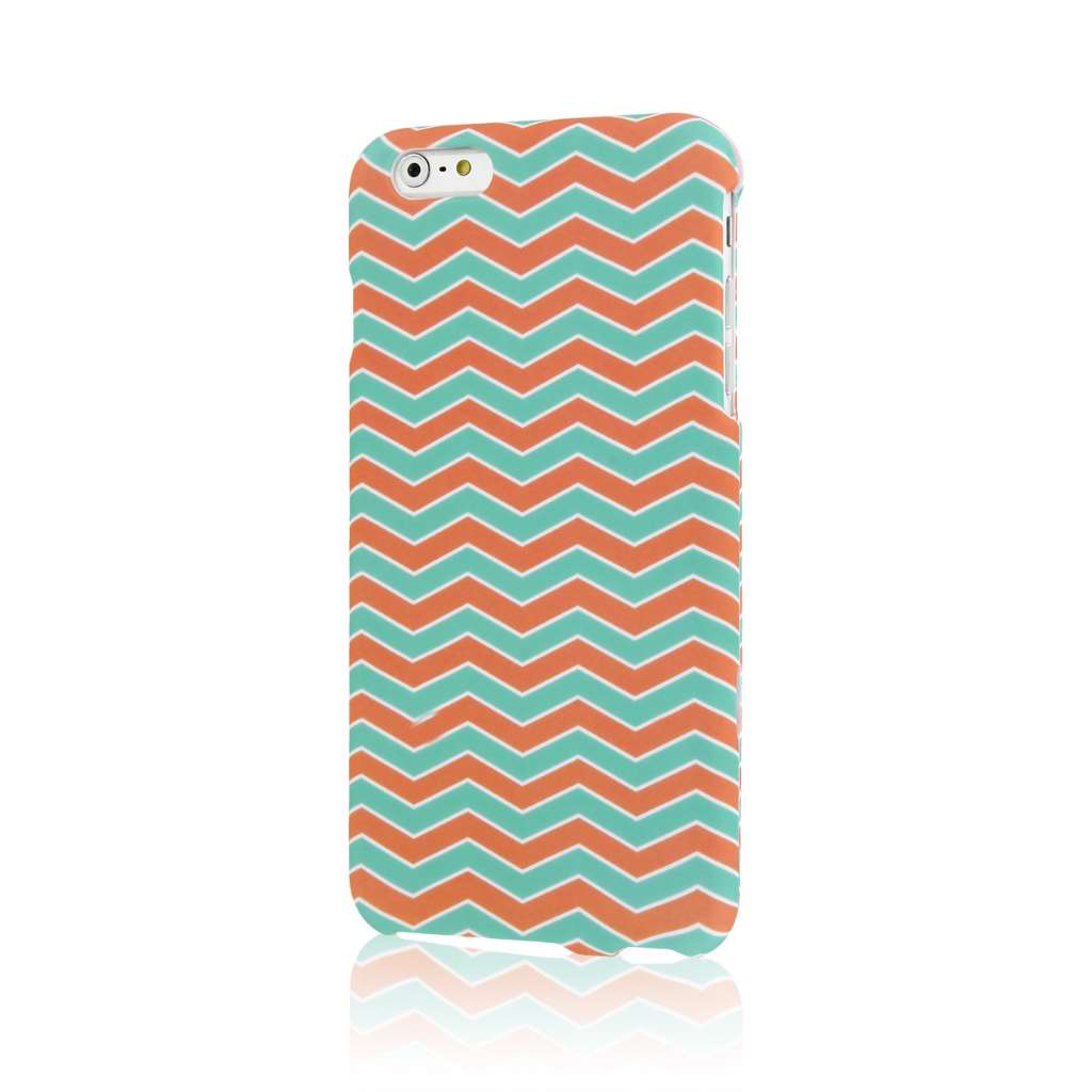 Apple iPhone 6 6S Plus - Aztec Fiesta Combo Pack : MPERO SNAPZ - Case Cover : Color Mint Chevron