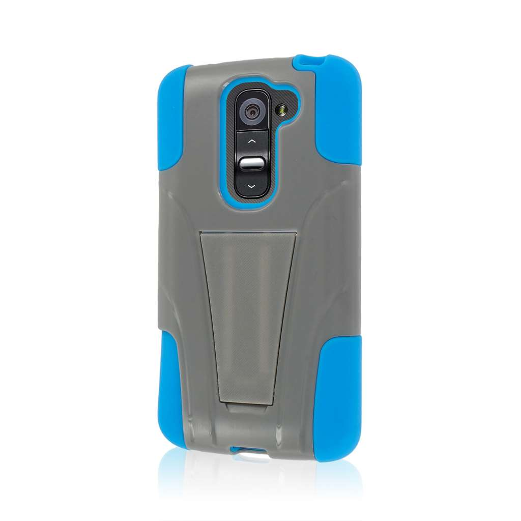 LG G2 Mini - Blue / Gray MPERO IMPACT X - Kickstand Case Cover