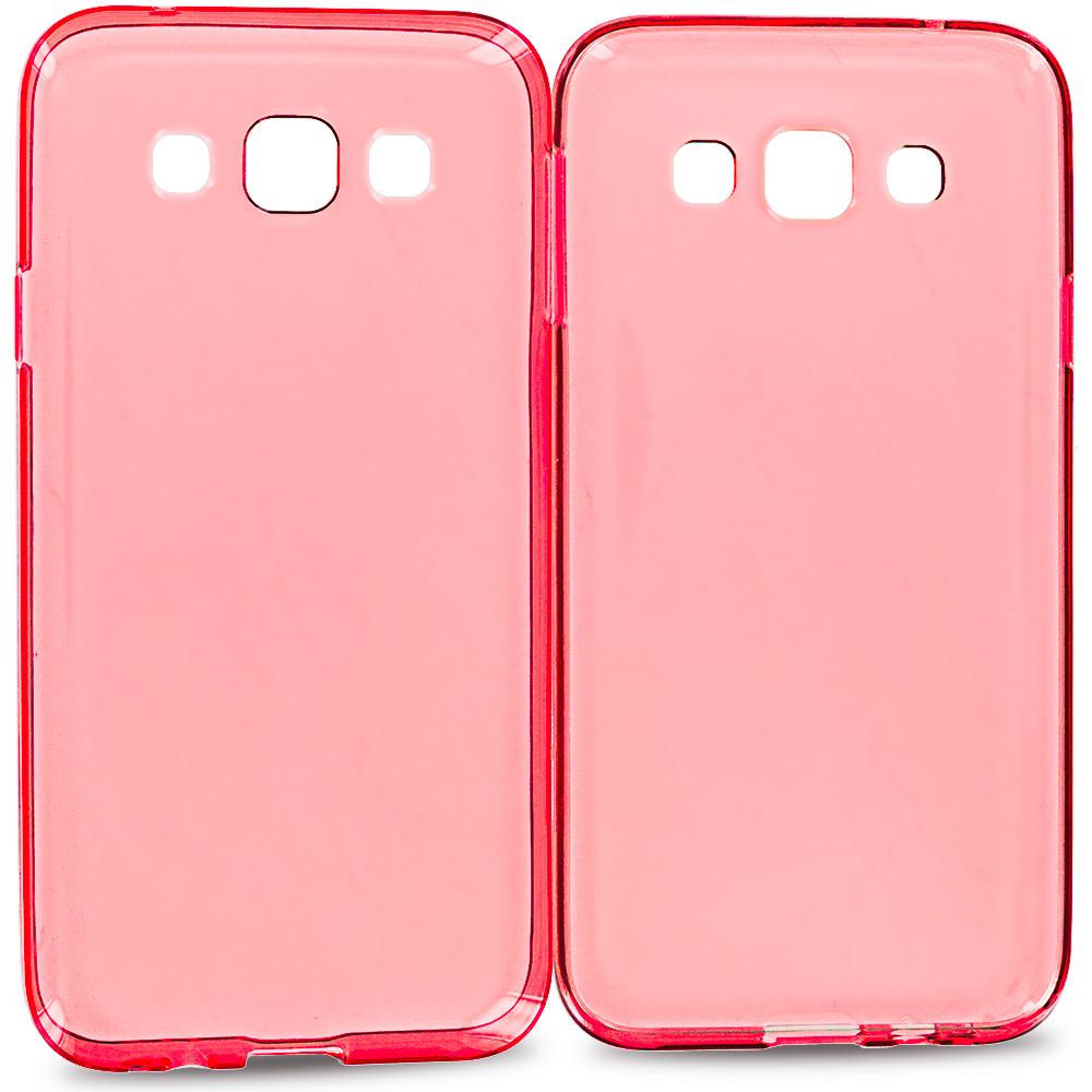 Samsung Galaxy E5 S978L Red TPU Rubber Skin Case Cover