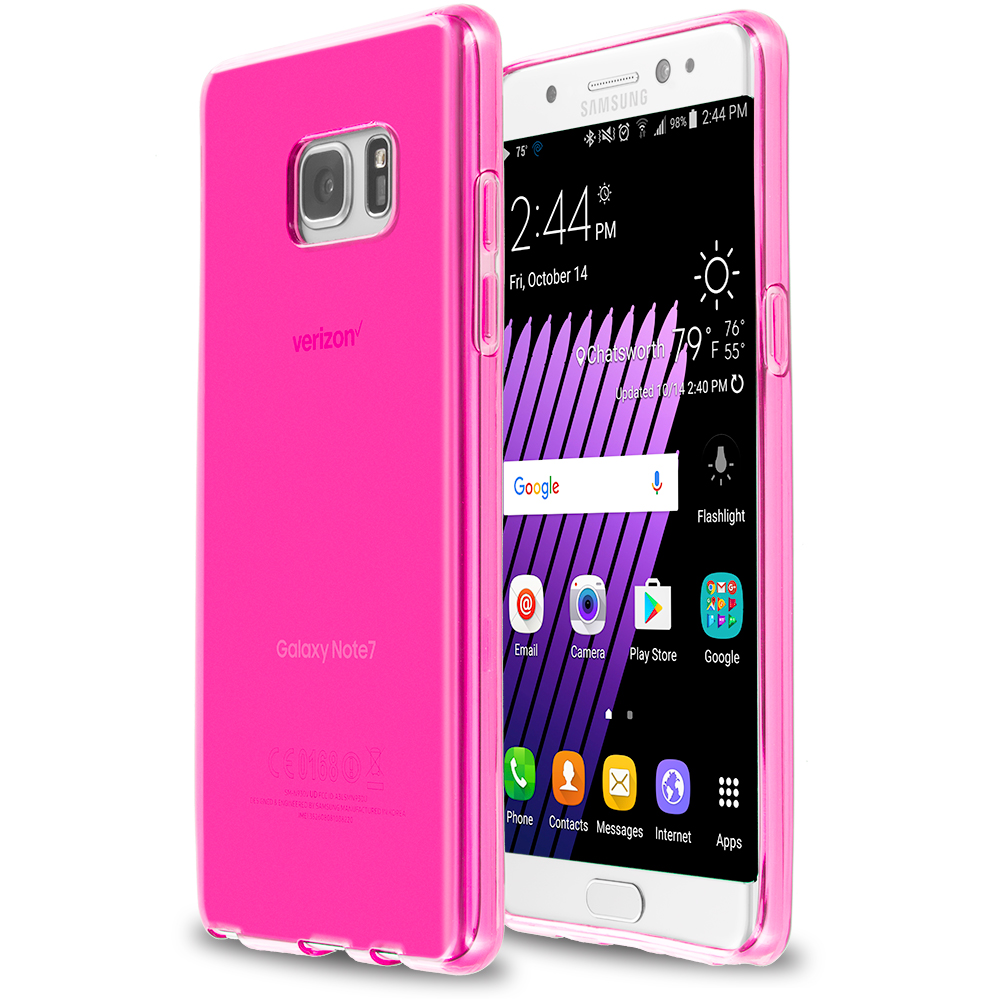 Samsung Galaxy Note 7 Hot Pink TPU Rubber Skin Case Cover
