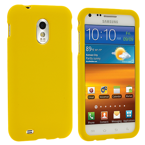 Samsung Epic Touch 4G D710 Sprint Galaxy S2 Yellow Hard Rubberized Case Cover