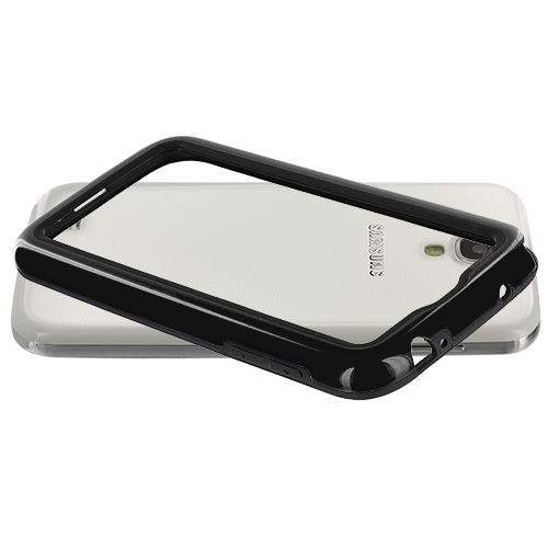 Samsung Galaxy S4 2 in 1 Combo Bundle Pack - Black / Red TPU Bumper : Color Black / Black