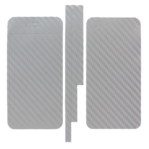 Apple iPhone 4 / 4S Gray Carbon Fiber LCD Screen Protector