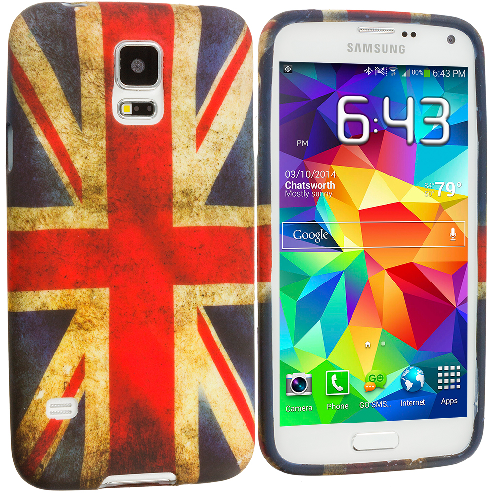 Samsung Galaxy S5 The Union Flag TPU Design Soft Case Cover