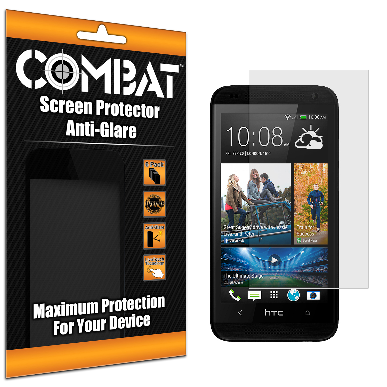 HTC Desire 601 Combat 6 Pack Anti-Glare Matte Screen Protector
