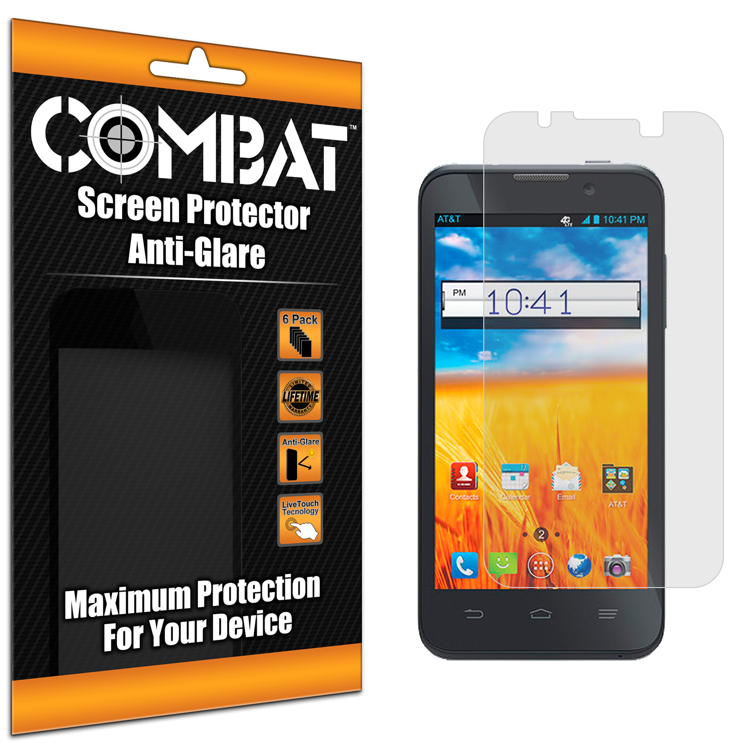 ZTE Z998 Combat 6 Pack Anti-Glare Matte Screen Protector