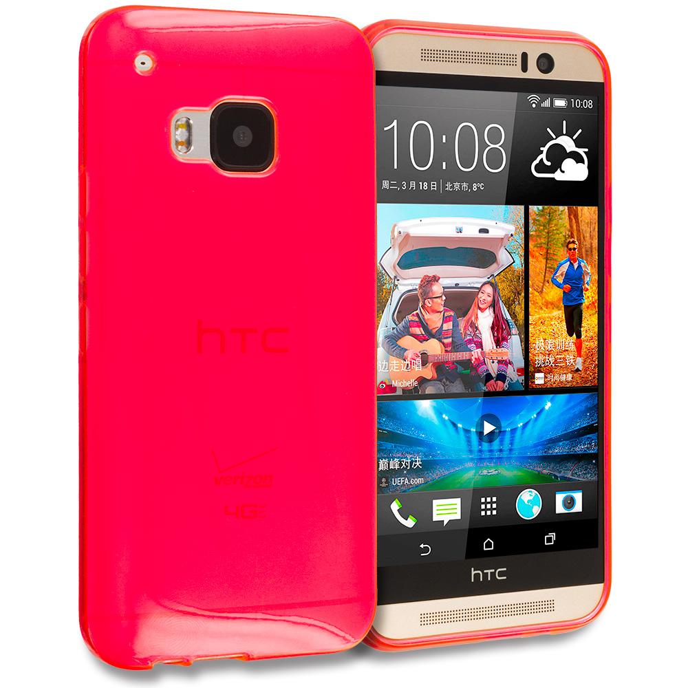 HTC One M9 Red TPU Rubber Skin Case Cover