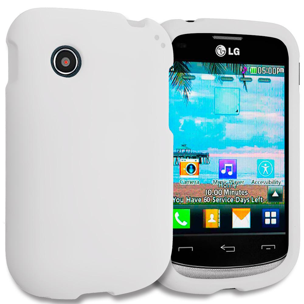 LG 306G / Aspire LN280 White Hard Rubberized Case Cover