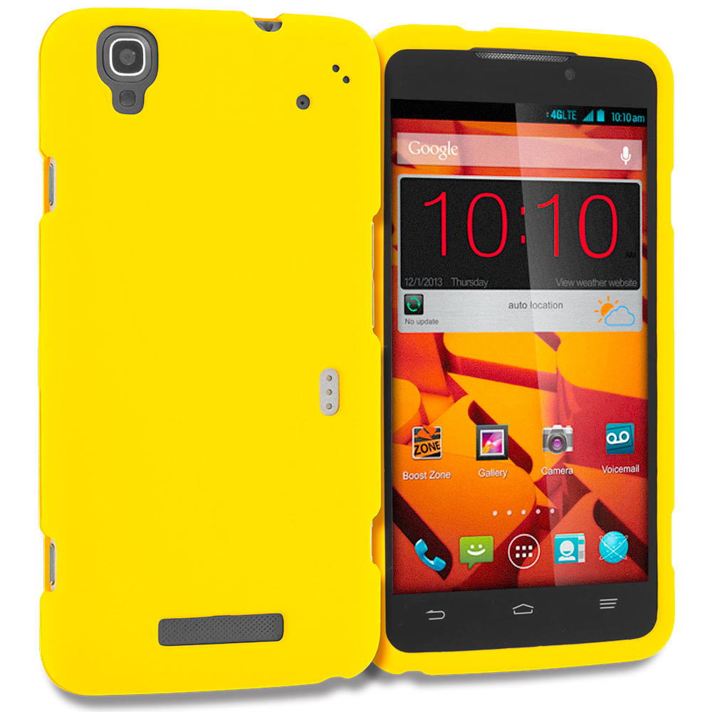 ZTE Boost Max Max Plus + N9521 Yellow Hard Rubberized Case Cover