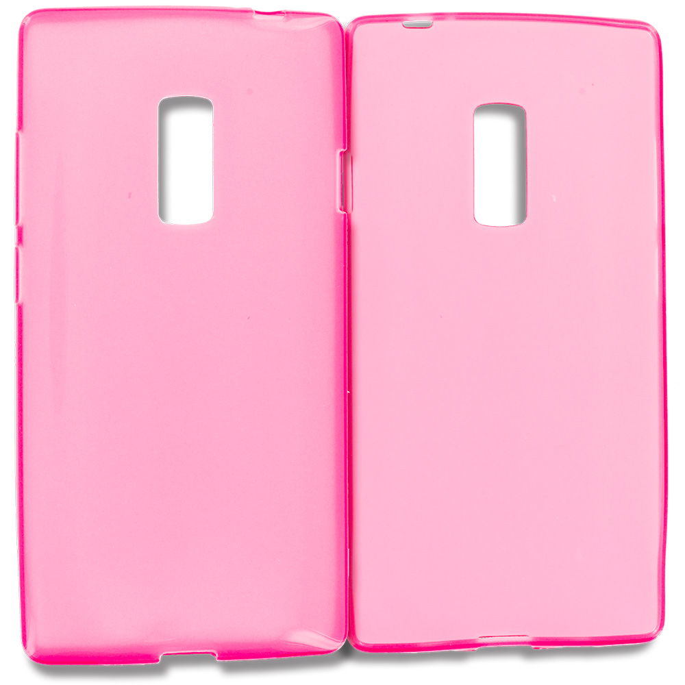 OnePlus 2 Two Hot Pink TPU Rubber Skin Case Cover
