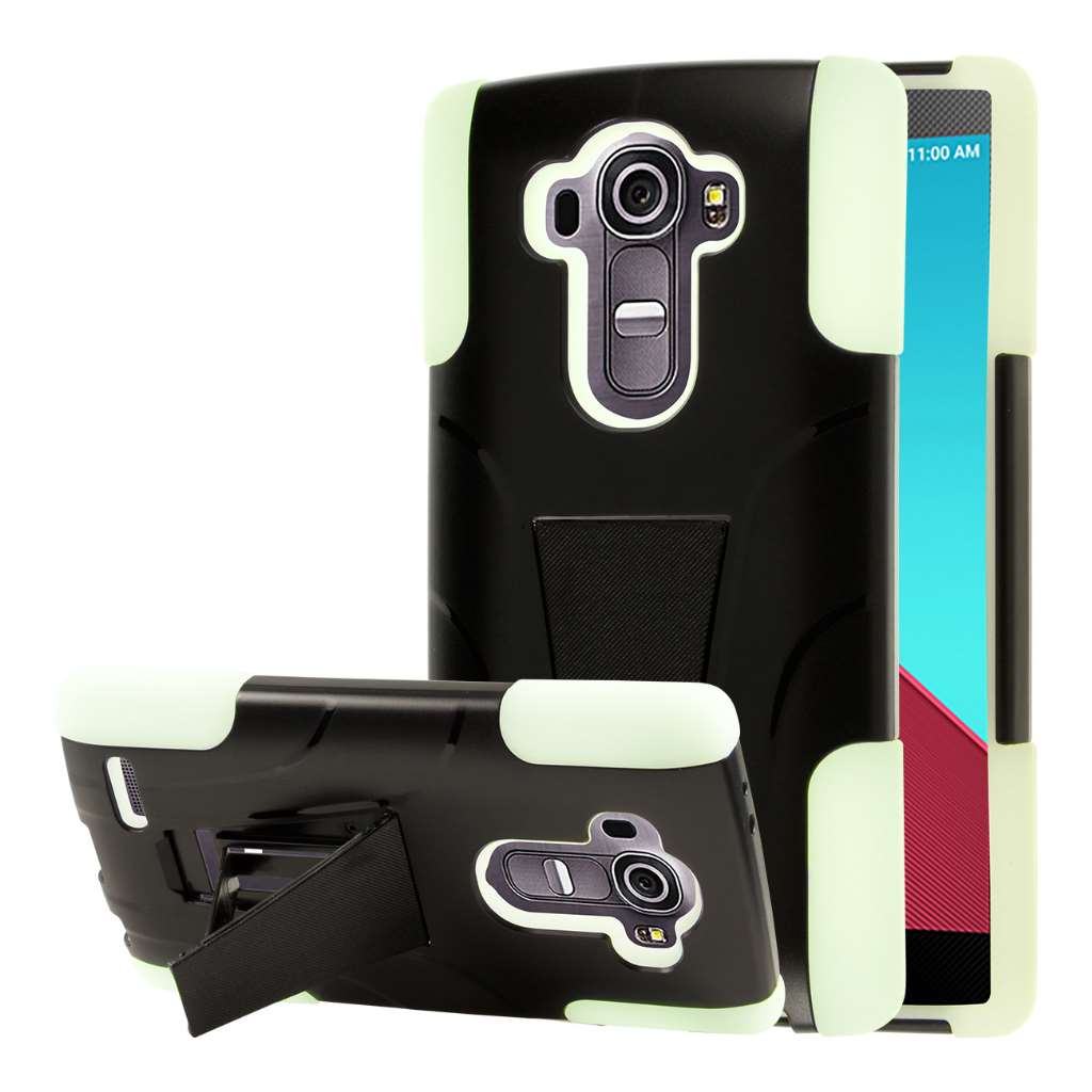 LG G4 - Glow In The Dark Green MPERO IMPACT X - Kickstand Case Cover