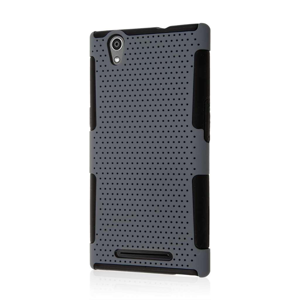 ZTE ZMAX - Gray MPERO FUSION M - Protective Case Cover