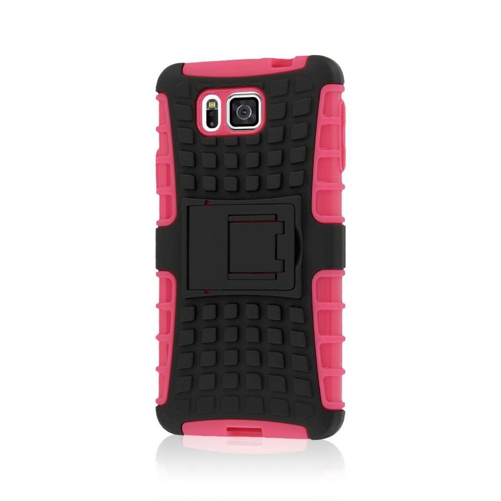 Samsung Galaxy Alpha - Hot Pink MPERO IMPACT SR - Kickstand Case Cover