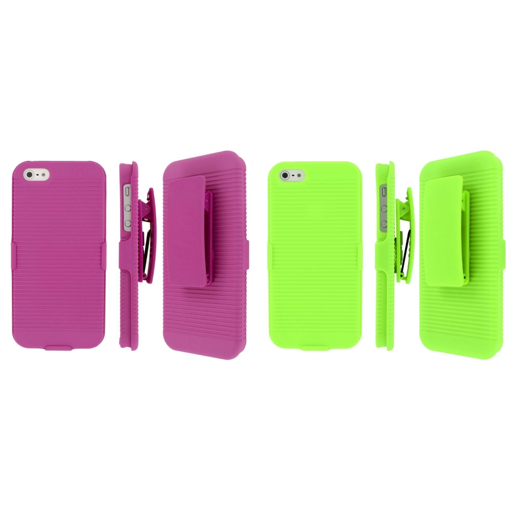 Apple iPhone 5/5S/SE Combo Pack : MPERO 3 in 1 Tough Kickstand Case Cover
