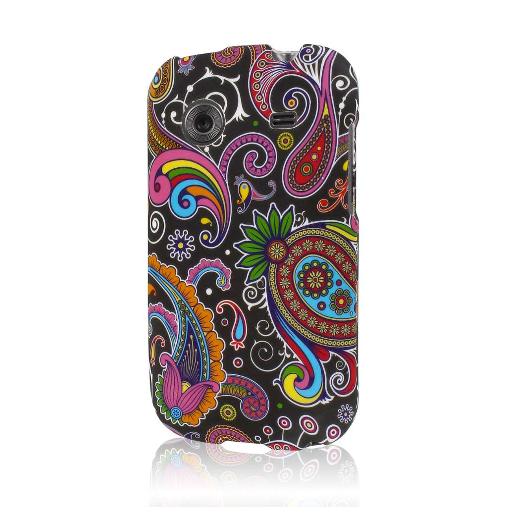 ZTE Whirl - Black Paisley MPERO SNAPZ - Rubberized Case Cover