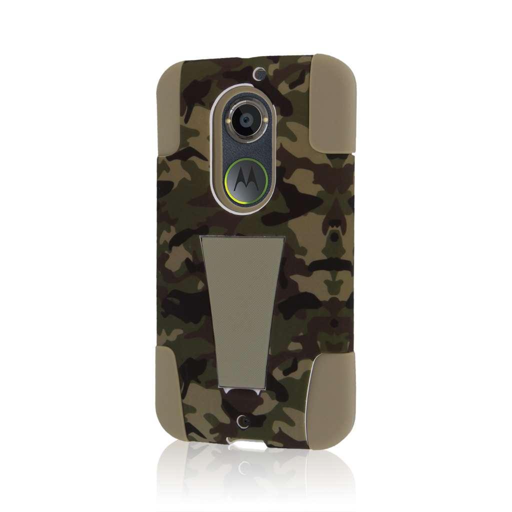 Motorola Moto X 2014 2nd Gen - Hunter Camo MPERO IMPACT X - Kickstand Case
