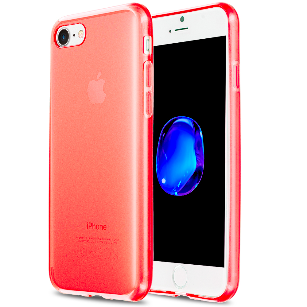 Apple iPhone 7 Red TPU Rubber Skin Case Cover