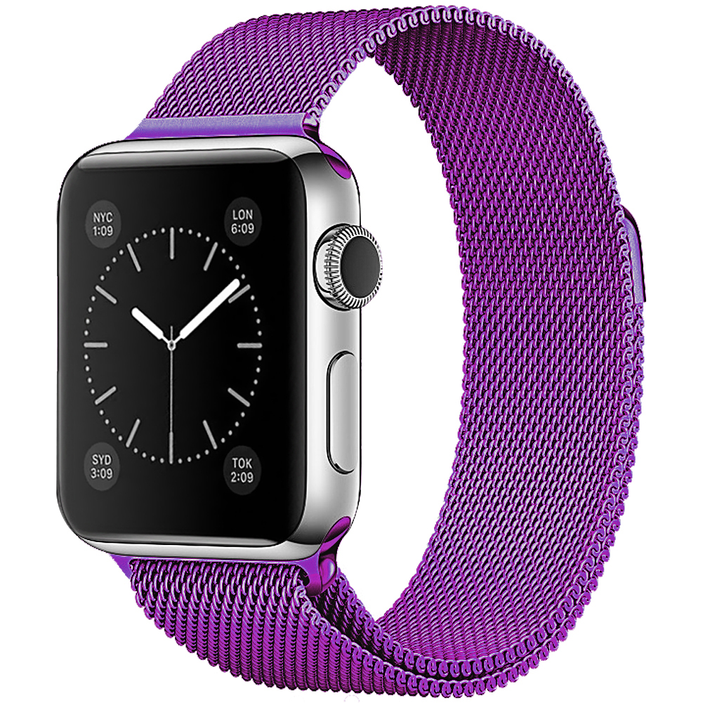 for apple watch series 1 2 38mm 42mm silicone milanese sport steel band strap. Black Bedroom Furniture Sets. Home Design Ideas
