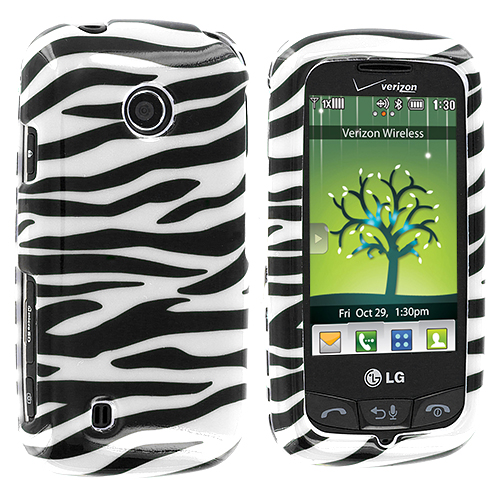LG Cosmos Touch VN270 Black / White Zebra Design Crystal Hard Case Cover