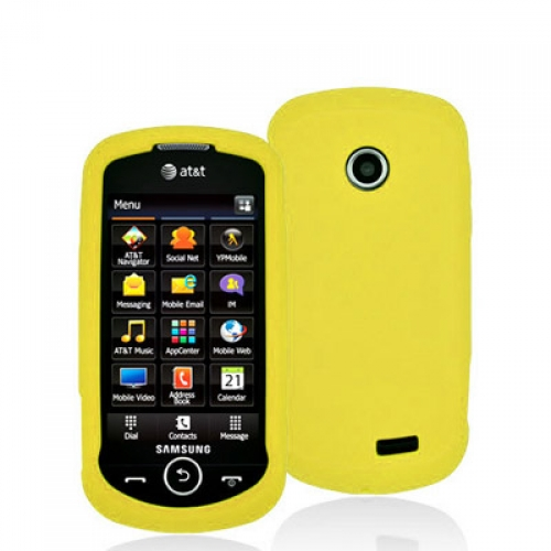 Samsung Solstice 2 A817 Yellow Silicone Soft Skin Case Cover