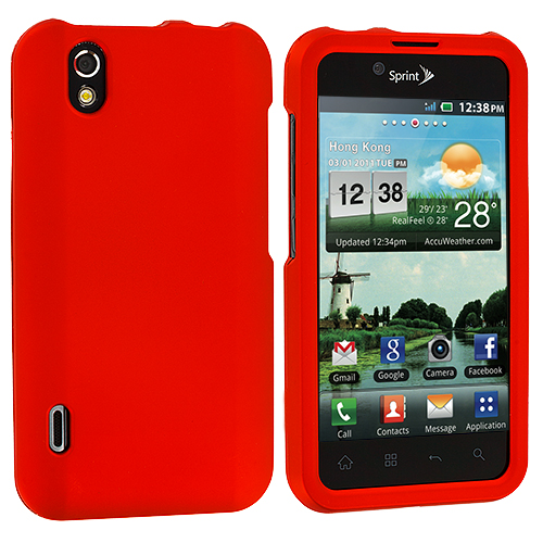 LG Optimus Black P970 / Marquee Orange Hard Rubberized Case Cover