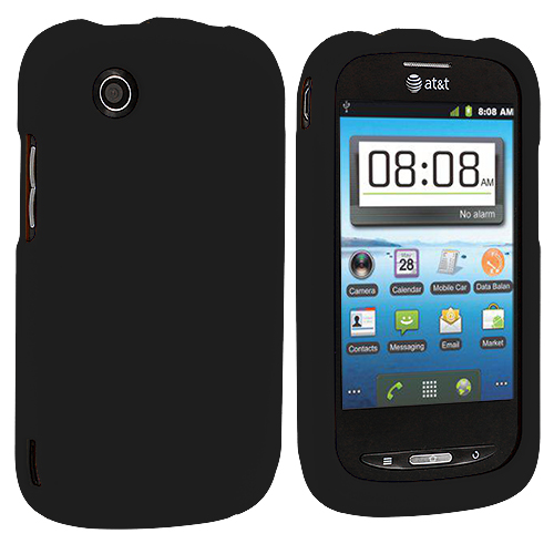 ZTE Avail Z990 Black Hard Rubberized Case Cover
