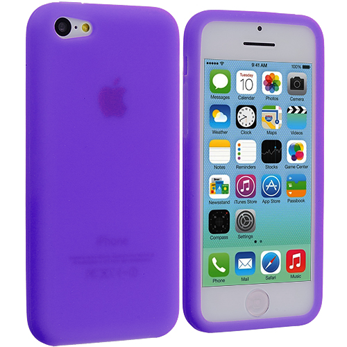 Apple iPhone 5C Purple Silicone Soft Skin Case Cover