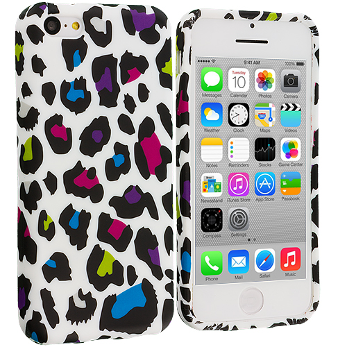 Apple iPhone 5C Colorful Leopard TPU Design Soft Case Cover