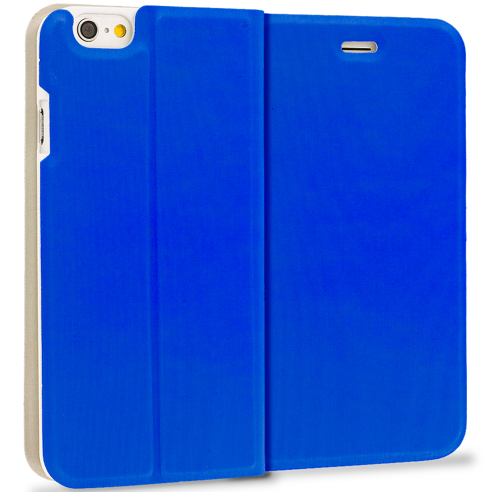 Apple iPhone 6 Plus 6S Plus (5.5) 4 in 1 Combo Bundle Pack - Slim Flip Wallet Case Cover : Color Blue