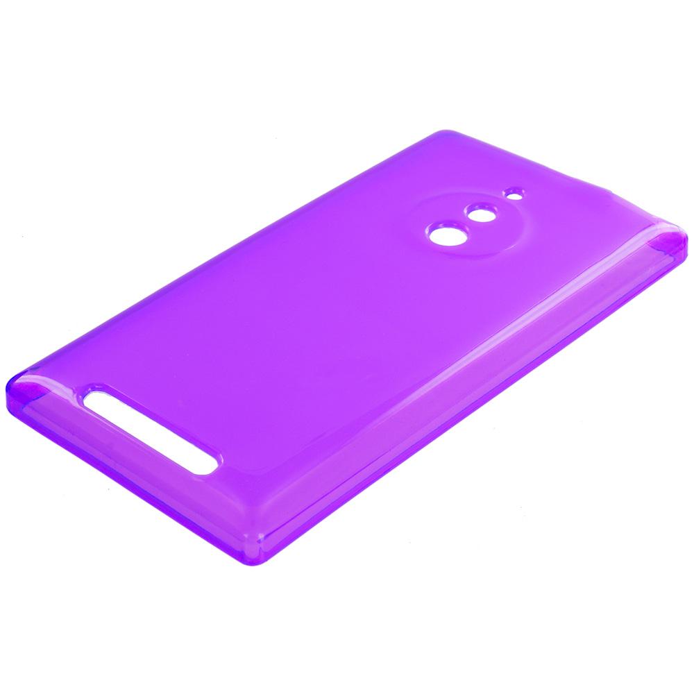 Nokia Lumia 830 Purple TPU Rubber Skin Case Cover