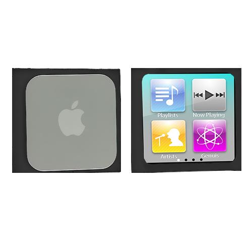 Apple iPod Nano 6th Generation Black Silicone Soft Skin Case Cover