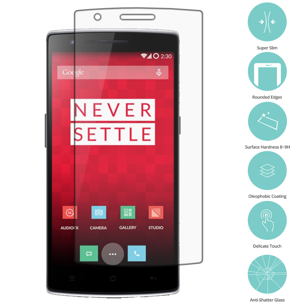OnePlus One Clear Tempered Glass Film Screen Protector Clear