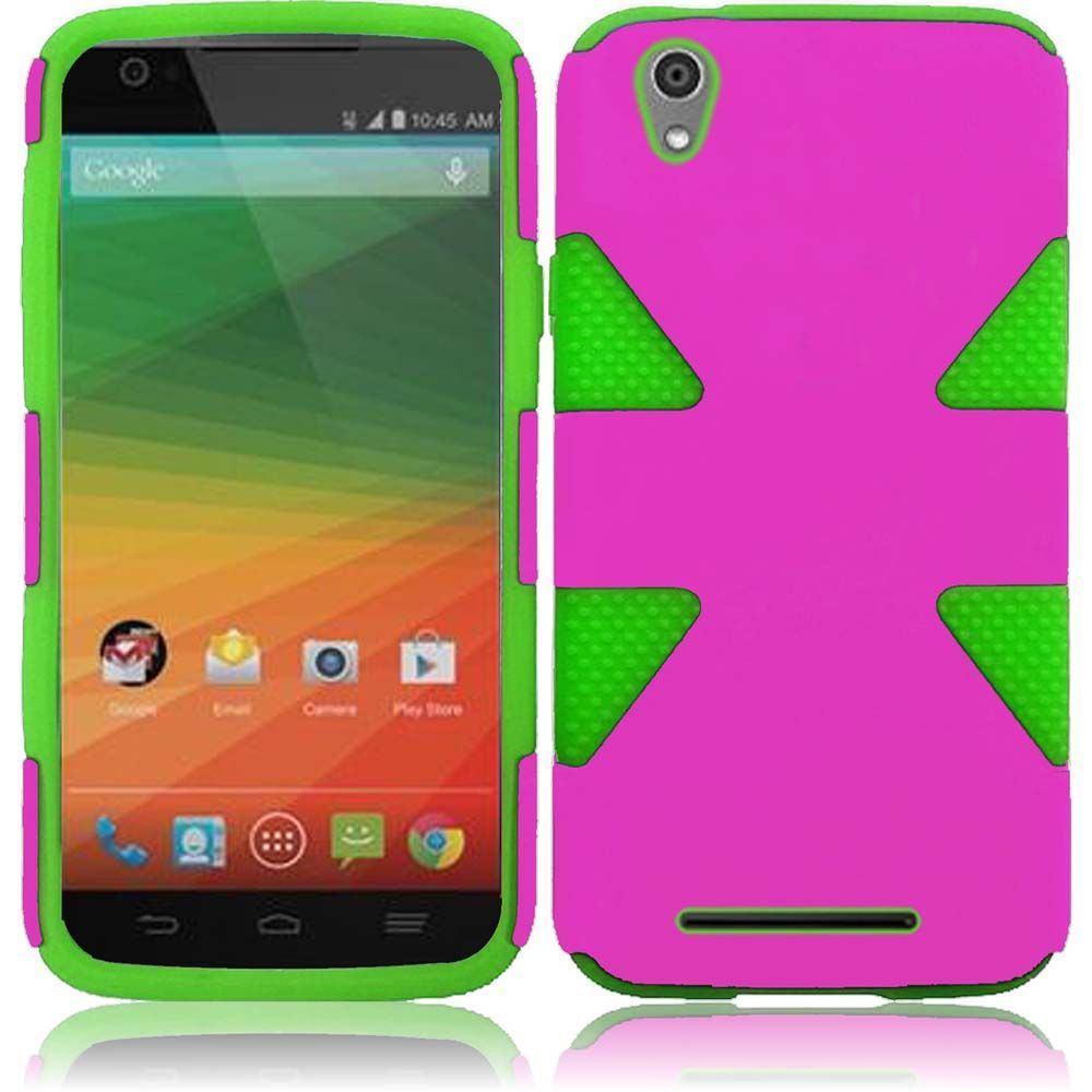 For Zte Zmax Dynamic Hard Soft Rugged Case Phone Cover Ebay