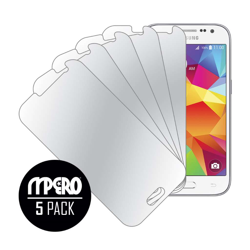 Samsung Galaxy Core Prime MPERO 5 Pack of Mirror Screen Protectors