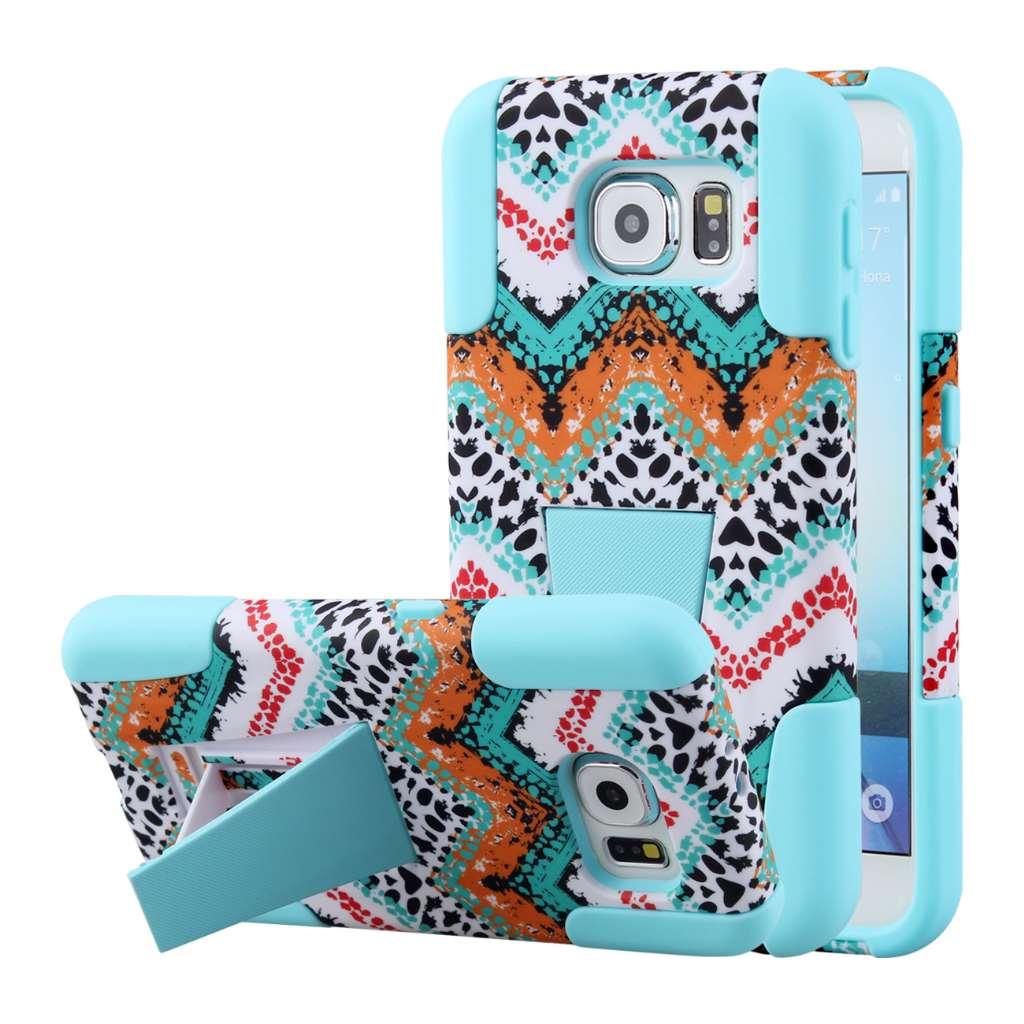 Samsung Galaxy S6 - Aqua Safari MPERO IMPACT X - Kickstand Case Cover