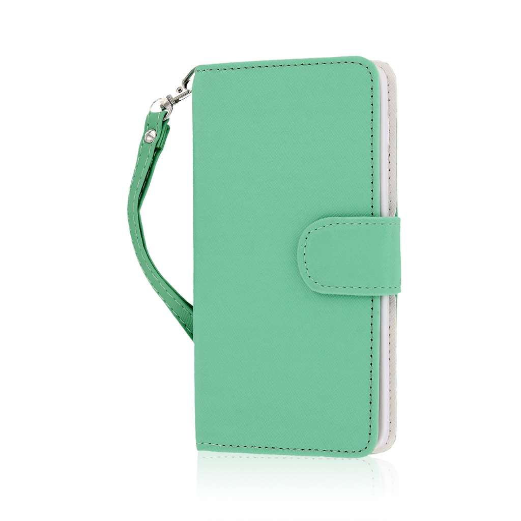 BLU Studio 5.0 S II - Mint MPERO FLEX FLIP Wallet Case Cover