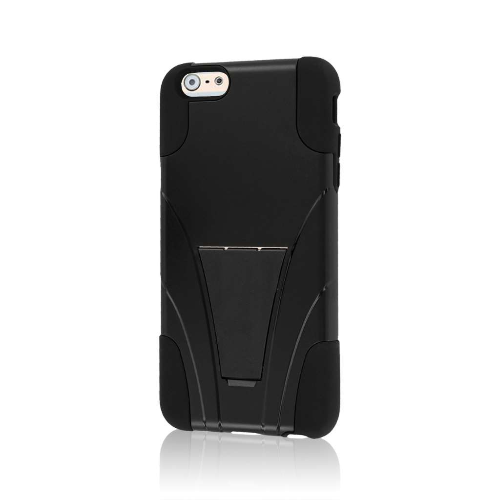 Apple iPhone 6 6S Plus - Black MPERO IMPACT X - Kickstand Case Cover