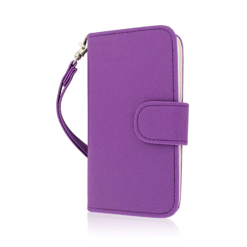 Samsung Galaxy S5 Mini - Purple MPERO FLEX FLIP Wallet Case Cover