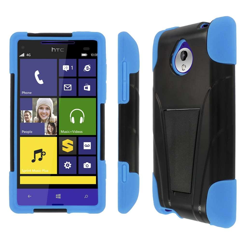HTC 8XT - BLACK / BLUE MPERO IMPACT X - Kickstand Case Cover