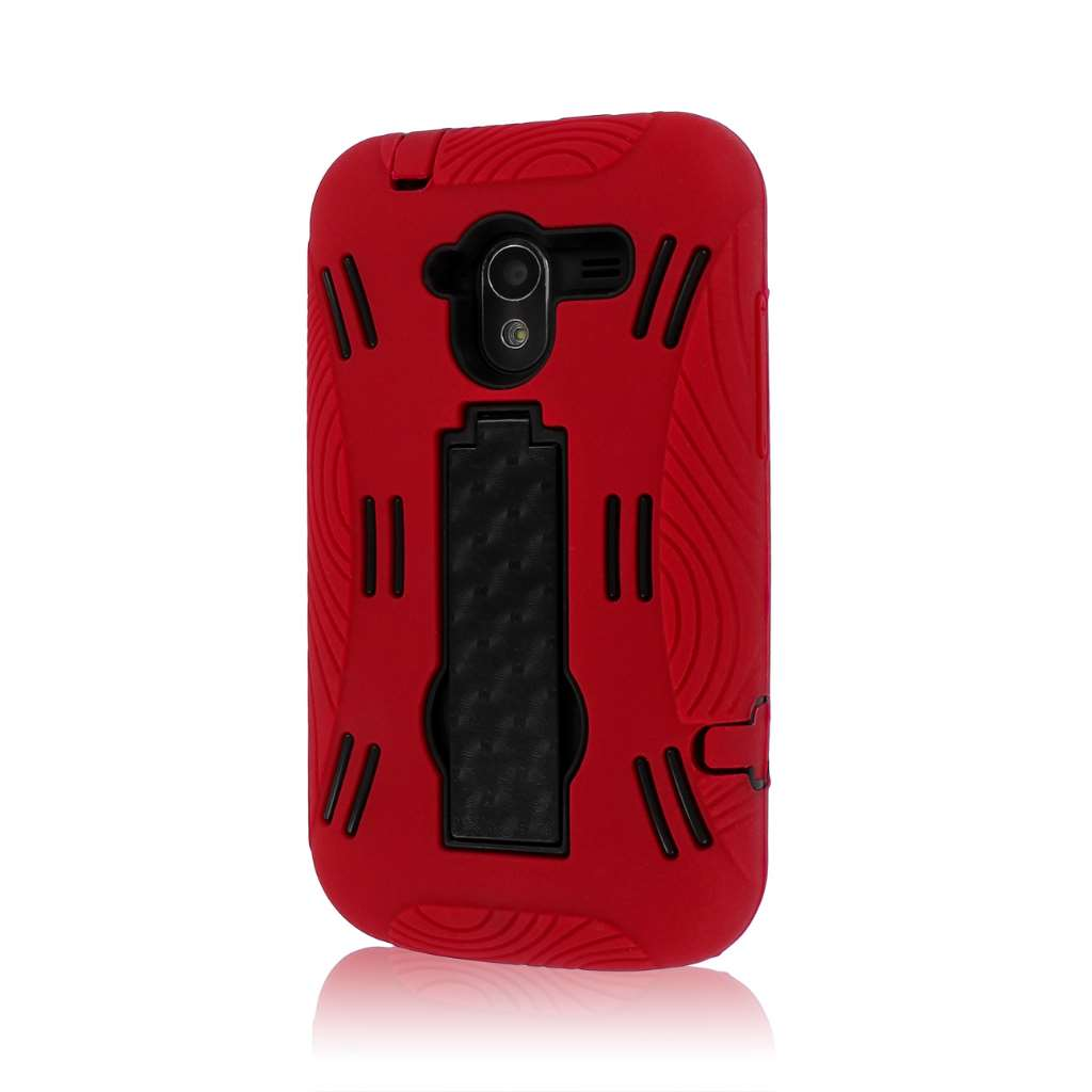ZTE Avid 4G N9120 - Red MPERO IMPACT XL - Kickstand Case Cover