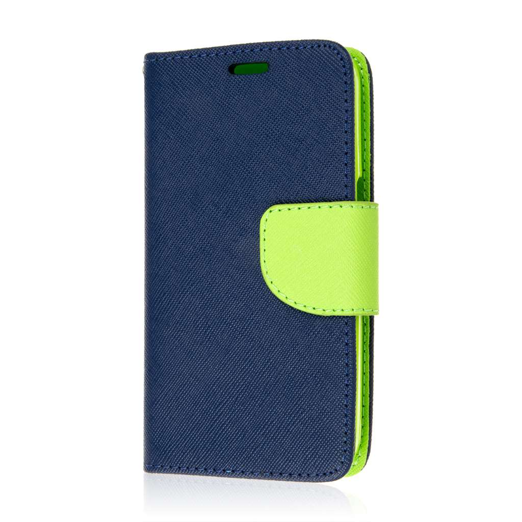 Samsung Galaxy Core Prime - Blue MPERO FLEX FLIP 2 Wallet Stand Case Cover