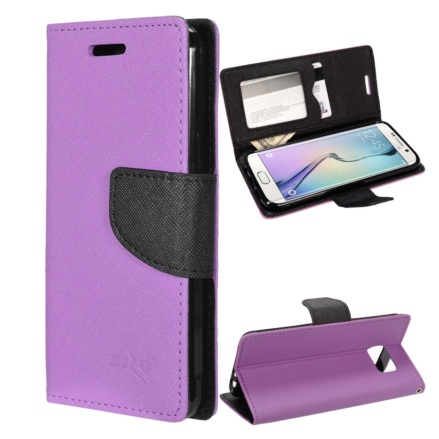 Universal Phone Holster Leather Belt Clip Wallet Case w ...