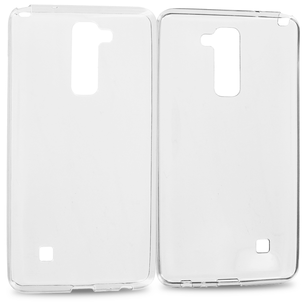 LG G Stylo 2 LS775 Clear TPU Rubber Skin Case Cover