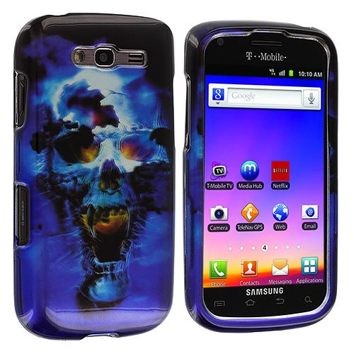 Samsung Galaxy S Blaze 4G T769 Blue Skulls Design Crystal Hard Case Cover