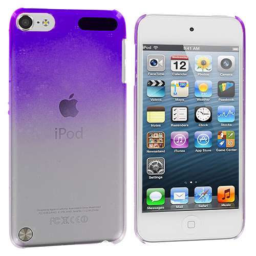 Apple iPod Touch 5th 6th Generation Purple Crystal Raindrop Hard Case Cover