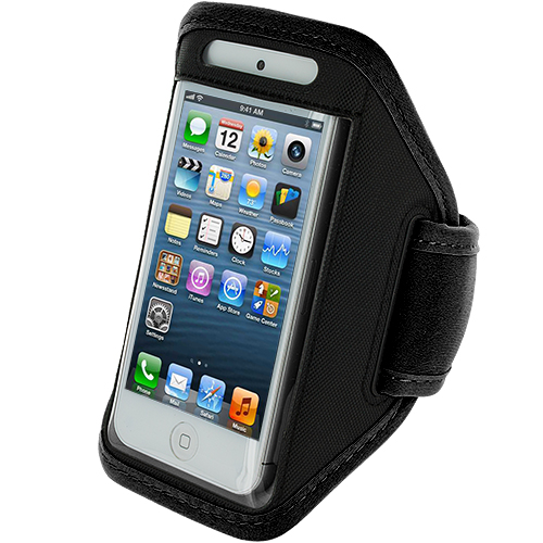 Apple iPhone 5/5S/SE Combo Pack : Black Running Sports Gym Armband : Color Black