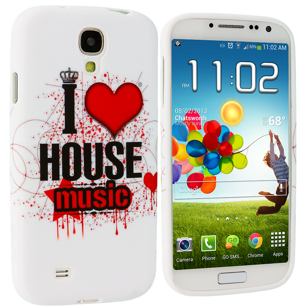 Samsung Galaxy S4 House Music TPU Design Soft Case Cover