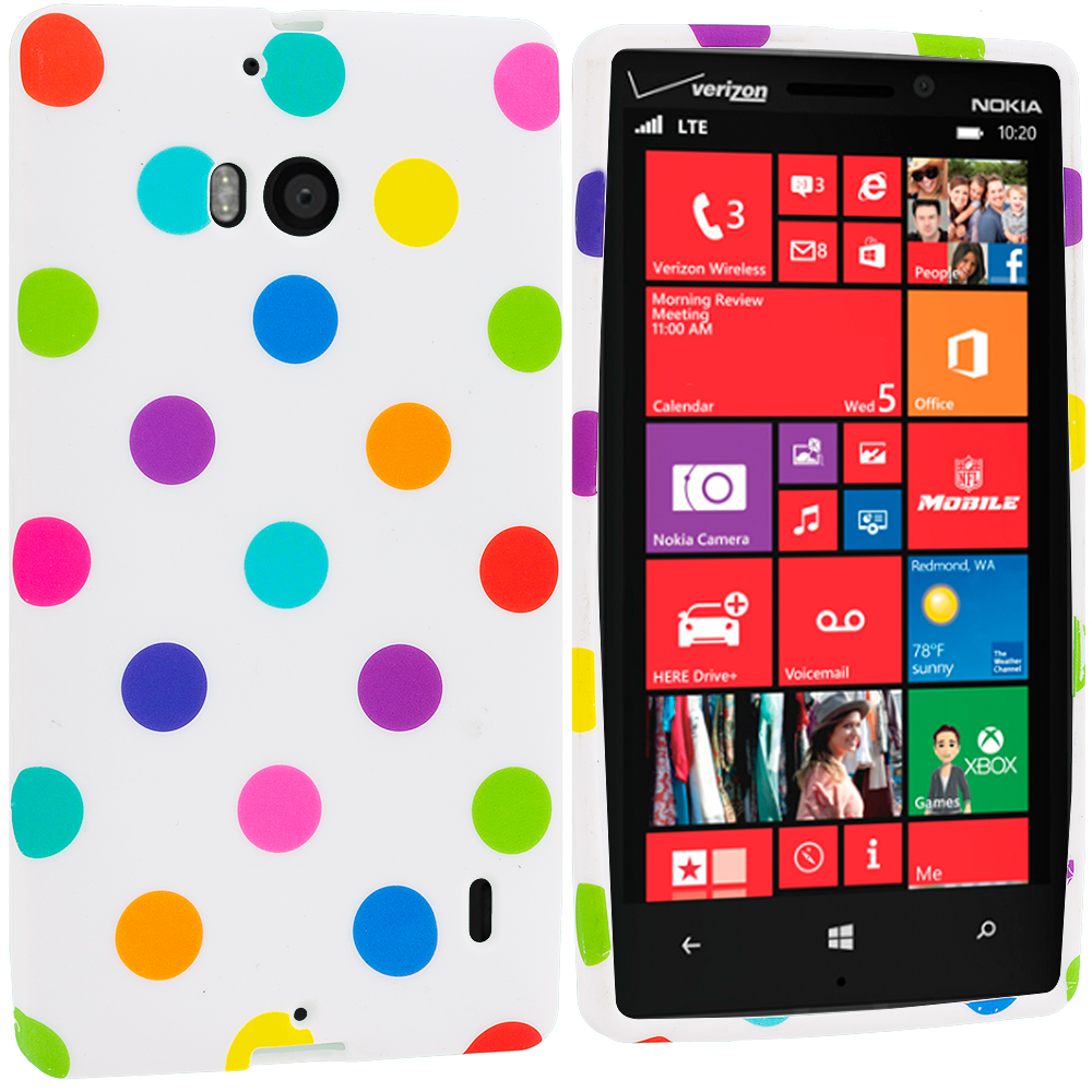 Nokia Lumia 929 Icon White / Colorful TPU Design Soft Case Cover